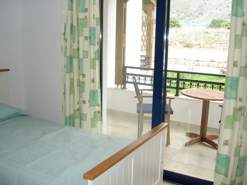Seaview Villas - Private balcony with mountain views