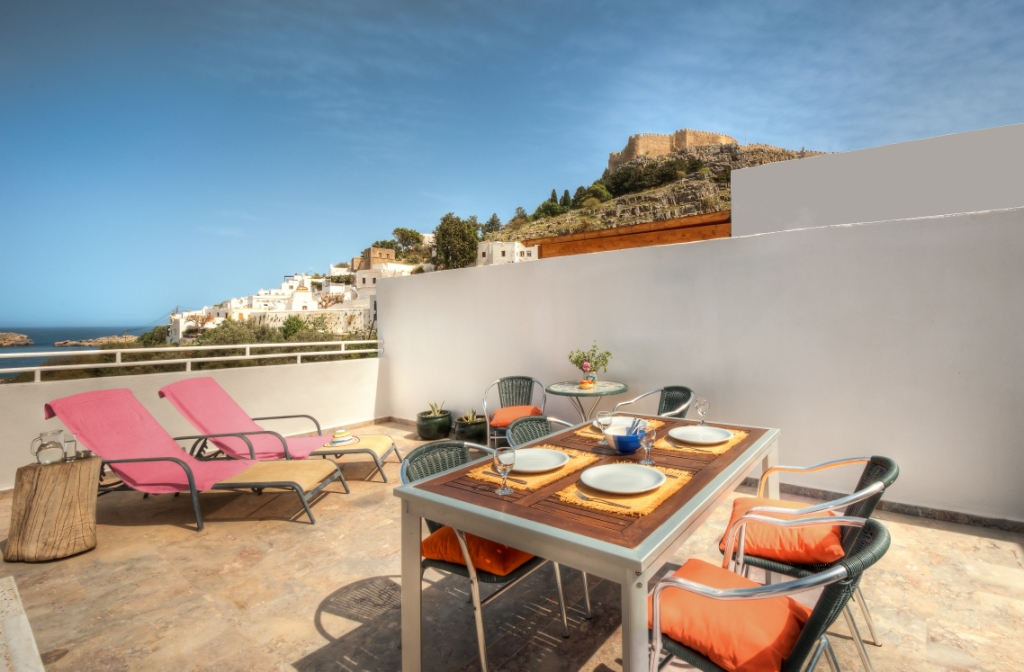 Thea 1- Private Sun Terrace with BBQ and seaviews