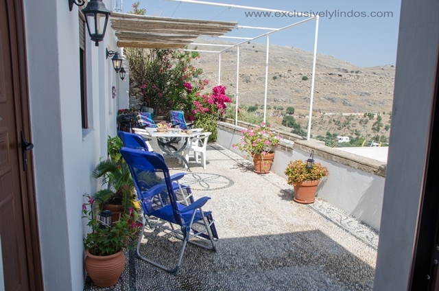 Villa Vassilia - Large Terrace with sunloungers