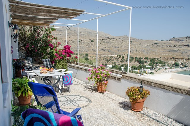 Villa Vassilia - Private Terrace with great outdoor dining space