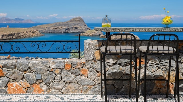 Lindos Vigli Villa - Breakfast bar where you can enjoy your breakfast before you start your day