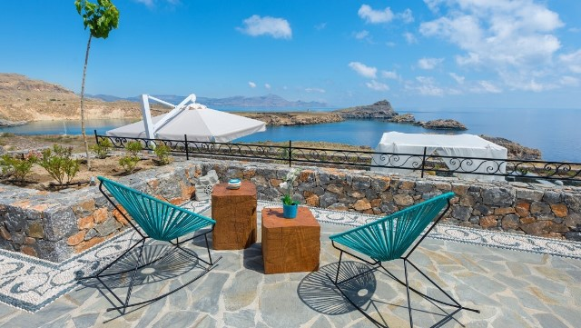 Lindos Vigli Villa - has plenty of outdoor seating areas where you can  relax