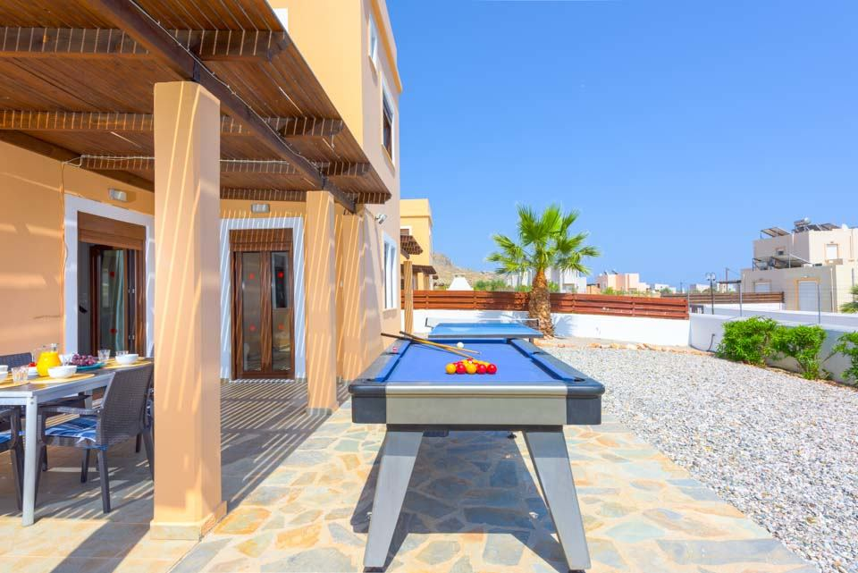 Pool Table, Villa Ioanna, Navarone Bay, Lindos