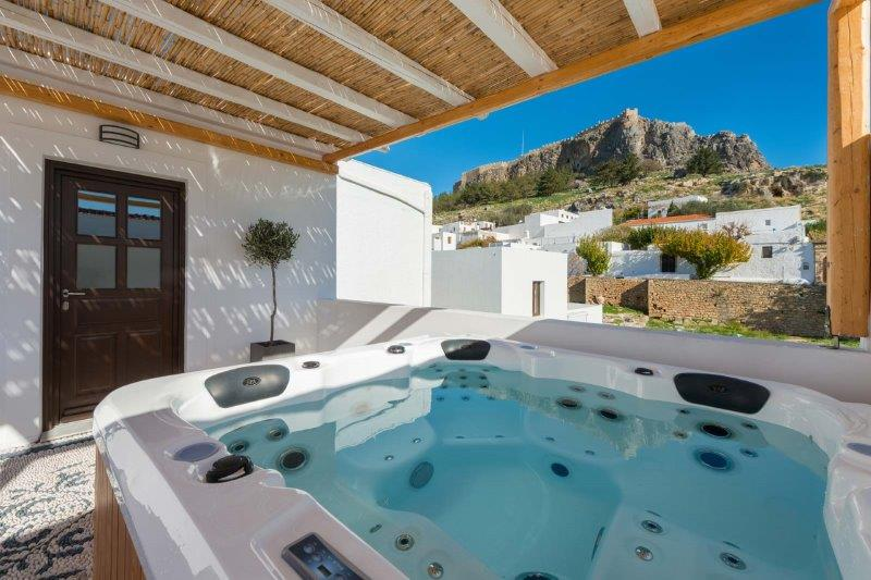VILLA HECATE FIRST FLOOR VIEW FROM OPEN AIR JACUZZI